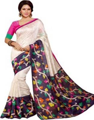 Manisha Sarees Printed Bhagalpuri Pure Silk Sari