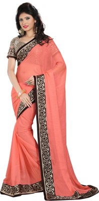 Go4fashion Embriodered Fashion Chiffon Sari