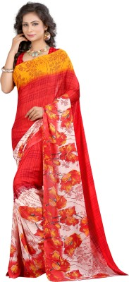 Womanethnicwear Printed Fashion Georgette Sari