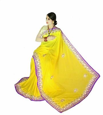 Home Design Embellished Fashion Handloom Pure Chiffon Sari