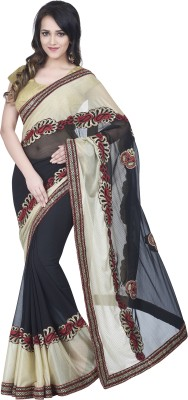 Hitansh Fashion Embriodered Fashion Chiffon Sari