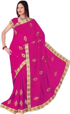 Aburadha Saree Embriodered Daily Wear Handloom Pure Chiffon Sari