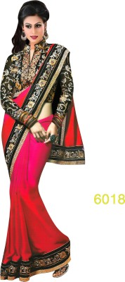 Indian Styles Embriodered Bollywood Chiffon Sari