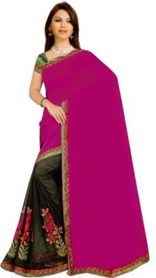 Vardhini Plain Fashion Georgette Sari