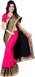 JDX Solid Bollywood Georgette Saree (Mul...