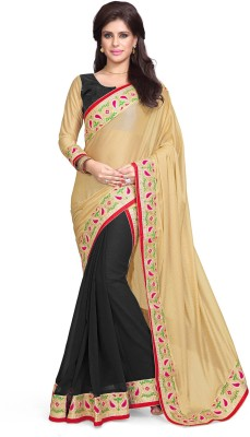 Sourbh Sarees Embriodered Bollywood Lycra, Georgette Sari
