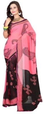 Shamaji Enterprise Printed Bollywood Crepe Sari