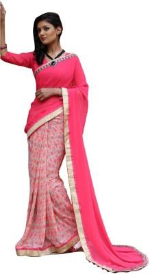 RGNRetails Printed Daily Wear Georgette Sari