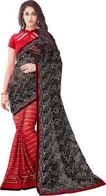 Onlinefayda Embroidered Fashion Net Saree(Multicolor) at flipkart