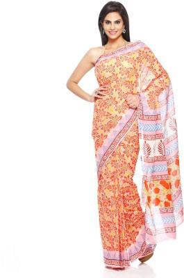 Aapno Rajasthan Floral Print Daily Wear Cotton Sari