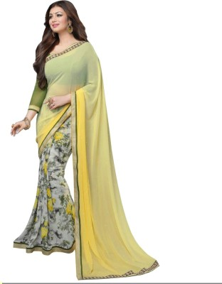 Fabfirki Fashion Hub Printed Fashion Georgette Sari
