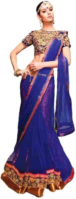 Swikriti Creations Embriodered Fashion Viscose, Net Sari