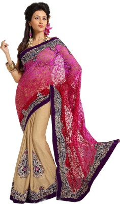 Paarampariya Embriodered Fashion Viscose, Net Sari