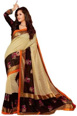 SNEH VARSHA SAREES Printed, Checkered Bhagalpuri Chanderi Sari