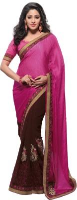 Eshantraders Self Design Fashion Jacquard Sari