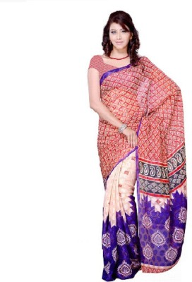 Swikriti Creations Printed Daily Wear Jacquard Sari