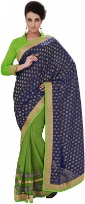 Adhyaa Solid Fashion Chiffon Sari
