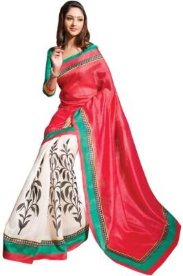 Rockchin Fashions Printed Fashion Silk Sari