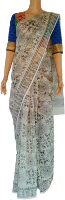 Mahem Printed Fashion Cotton, Poly Silk, Viscose Sari