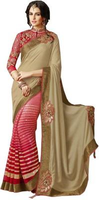 Abhaysri Fashion Embriodered Fashion Silk, Net Sari