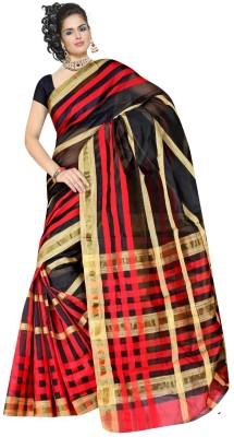 mauli Striped Daily Wear Cotton Linen Blend Sari
