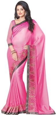 Kintu Designs Pvt. Ltd. Floral Print Fashion Satin Sari