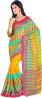 Shree Vaishnavi Printed, Self Design Bollywood Handloom Cotton, Brasso Sari best price on Flipkart @ Rs. 649
