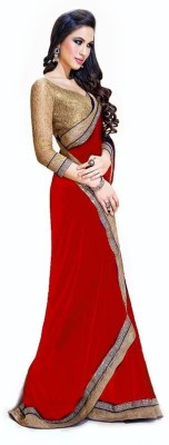 Suyog Prints Embriodered Bollywood Georgette Sari