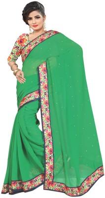 CD Enterprise Self Design Bollywood Handloom Georgette Sari