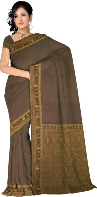 Kothari Saree Plain Banarasi Crepe Sari