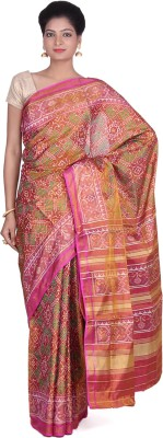Indian Artizans Woven Patola Pure Silk Sari