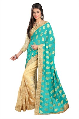 Karmafreshlooks Embriodered Fashion Jacquard Sari