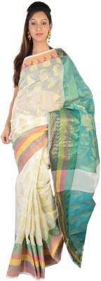 9rasa Floral Print Banarasi Cotton Sari