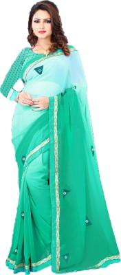 PP Unique Creations Embellished Fashion Pure Georgette Sari