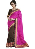 Ewows Wedding party Sari Self Design, Pr...