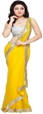 Radhecreation Solid Fashion Handloom Georgette Sari