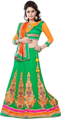 vruticreation Self Design, Embriodered Bollywood Georgette Sari