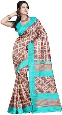 The Fancy Sarees Striped Mysore Poly Silk Sari
