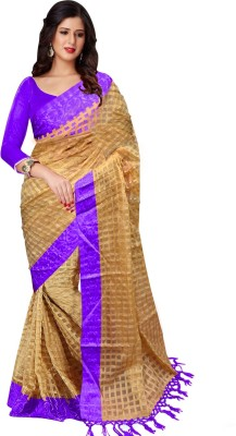 Trendz Printed Fashion Art Silk Saree(Purple)