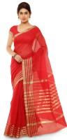 Kvsfab Woven Fashion Cotton Saree(Red)