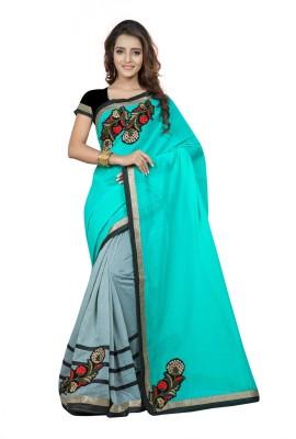 Fabdeal Embriodered Fashion Cotton Sari