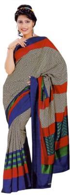 AJS Checkered, Printed Fashion Art Silk Sari