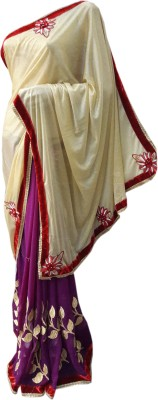 NEW LOOK DESIN ER Embriodered Fashion Synthetic Sari