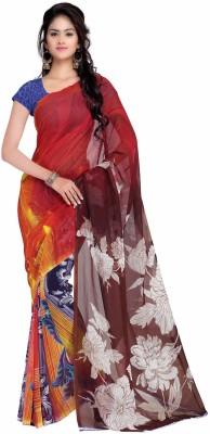 Ganes Printed Fashion Georgette Sari