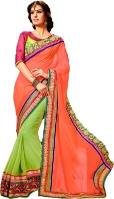 Shop Plaza Embriodered Daily Wear Georgette Sari