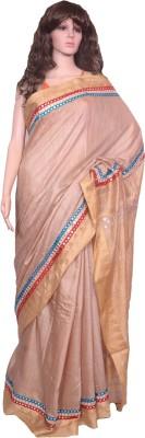 Tanjinas Embriodered Bhagalpuri Handloom Silk Cotton Blend Sari