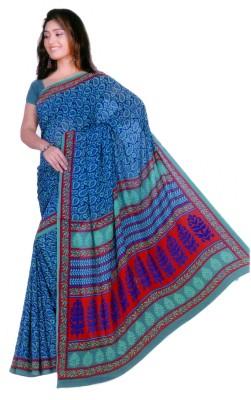 Mihika Floral Print Daily Wear Crepe Sari