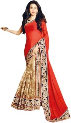Shoppingover Embriodered Fashion Handloom Net Sari