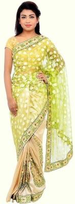 Monash Creations Embriodered Chanderi Handloom Chanderi Sari