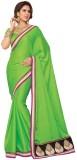 Foram Solid Fashion Poly Silk Saree (Gre...